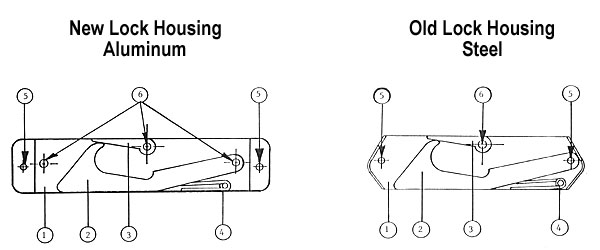 Lock Housing Diagrams